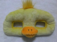 Hot sale funny duck animal head plush mask