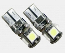 Blanc T10 194 W5W 5050 5 SMD LED Auto Canbus Anti Erreur ODB Ampoules Lampe N