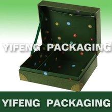 mini cardboard storage box with paper compartment