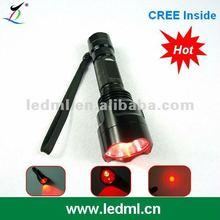 C8 Cree Q5 red led flashlight
