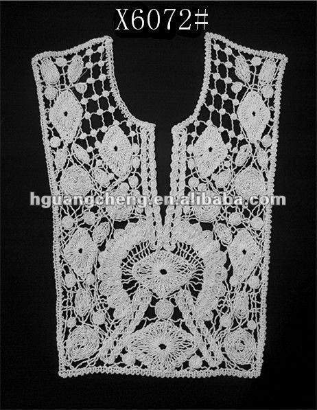 Crochet Lace Patterns For Sarees : Cotton Crochet Lace Ladies Saree Blouse Collar Design ...