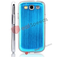 Brushed Metal Aluminum Skin Case Cover for Samsung Galaxy s3 Phone Case