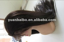 """24"""" #1b,top quality,factory cheap price,fast shipping,yaki straight,chinese virgin hair full lace wig"""