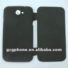 TPU mobile phone flip cover for HTC one X case