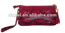 cheap fashion shiny snake skin texture ladies clutch bag 2012