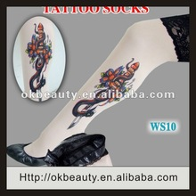 2012 Hot Sexy Top Lace Lady Snake tattoo hosiery
