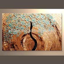 Hot Sell Handmade Modern Oil Painting Trees