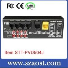 4CH Power Video Data Combiner Hub-12VDC-Mid model STT-PVD604J