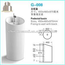 porcelain pedestal basin wash basin ceramic sanitaryware
