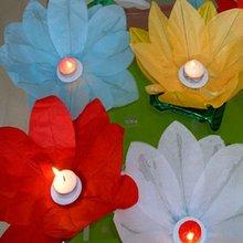 Long life span floating lotus lantern