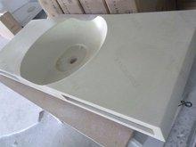 KKR acrylic solid surface pedestal sink