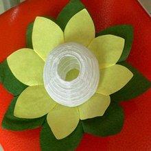 Foldable floating lotus lantern