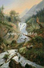 Handmade oil painting landscape on canvas