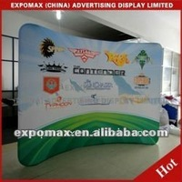 HOT sales!! 100% PURE 8ft Curved Tube trade show backdrop stand display,fabric backdrop stand