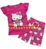 kids clothing wholesale short sleeves cartoon pattern child clothes set