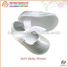 Leather Spanish Baby Shoes With Silk Bow