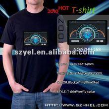 Car meter logo musical actived EL t-shrit