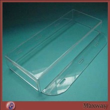 Clear wall mounted decent polished capacity perspex container box
