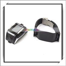 Black F3 Wrist Watch CellPhone with Bluetooth Mp3 Mp4 Player-E02055