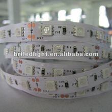 2012 hot 12V flexible SMD5050 white PCB 60leds waterproof led strip light