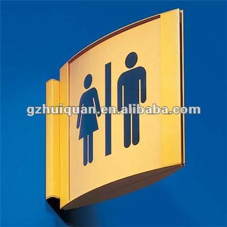 aluminum frame toilet sign for advertising equipment