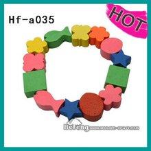 2012 wooden cartoon children's bracelet