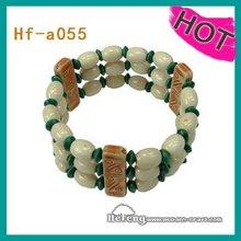 2012 fashion multi-layered wooden beads bangle