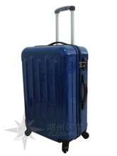 Luggage trolley with abs+pc material and zipper design