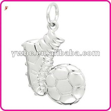 Shoe and football combination cheap metal charm(H102656)