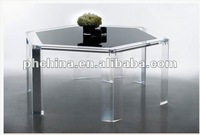 AN-107 Stylish Design Acrylic Furniture Polygon Gray Table/Desk
