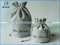 round bottom velvet bags with velvet drawstring
