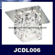 Embedded halogen crystal ceiling lamp