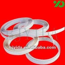 plain color 2mm pvc edge white