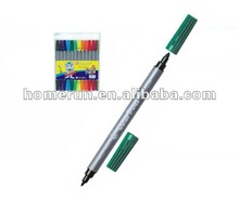 slim dual tip water color pens/2 tips color markers #WM817