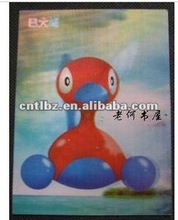 Eco-friendly 3D lenticular collecting poster/card