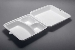 disposable 3 Compartment Large Foam Lunch Box Carryout Containers