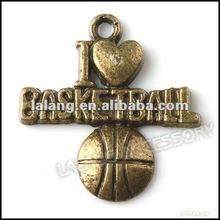 New Basketball Bronze Vintage Pendants