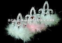 fashion white halloween chrstimas rhinestone pageant crowns wholesale tiara cheap custom headband beauty queen princess crowns
