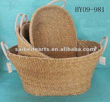 wholesale handmade straw pet basket pet bed