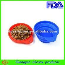Promotion silicon folding bowl for pet dog