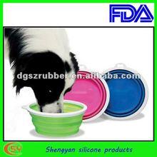 Portable silicon plastic folding bowl for pet dog