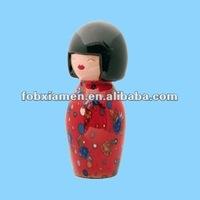 Japanese girl handmade porcelain geisha doll