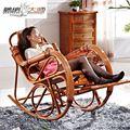 mestre de madeira rattan móveis de vime rattan cadeira rattan cadeira e sacudiu a almoço feliz idosos cadeira espreguiçadeira