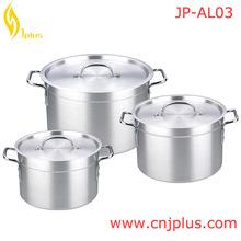 JP-AL03 Fast Moving Enamel Cooking Pot 3pcs Set Stainless Steel Handle&Knob