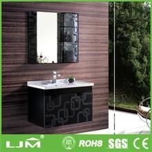 In stock five star black oak towel cabinet for bathroom