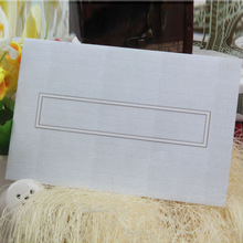 Top sale classical wooden wedding invitation card with wav
