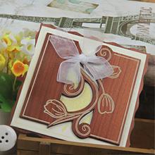2014 Hot promotional laser cut filigree wedding cake favor boxes