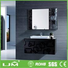 floating wood bathroom vanity chrome legs
