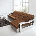 Speciale in pelle retrò soggiorno europeo- stile alta- in acciaio inox tipo di modello di divano ad angolo grande combinazione