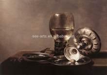 Classical Handmade Beautiful Still Life Wine Glass Paintings